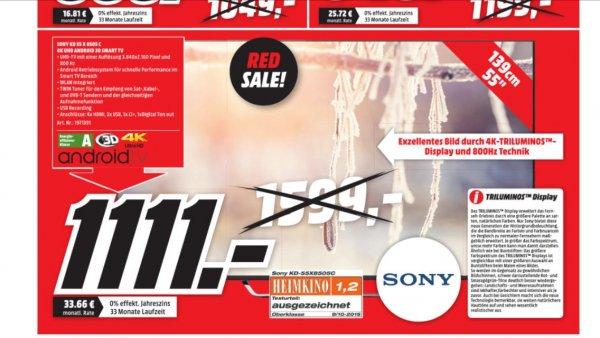 ( Update )Sony kd55x8507c LCD-Fernseher 1111€