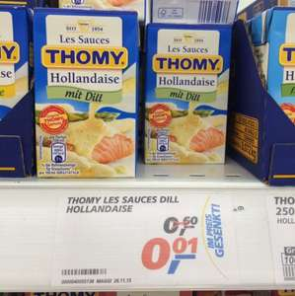 Thomy Sauce hollandaise mit dil 1 Cent ! Lokal in krefeld