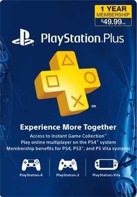 1 Jahr Playstation Plus (US & CAD Account)