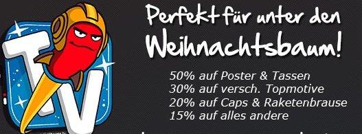 Bis zu 50% Rabatt auf Rocketbeans/Game One Merchandise (getshirts)