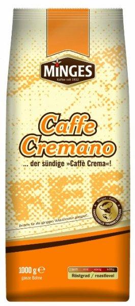 [Amazon.de-Prime-Sparabo] Minges Caffè Crema Caffe Cremano, ganze Bohne, Aroma-Softpack, 1.000 g, 1er Pack (1 x  1kg)  ab 7,22€