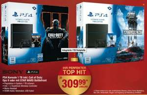 PS4 1TB inkl. Call of Duty: Black Ops III ODER Star Wars Battlefront @METRO