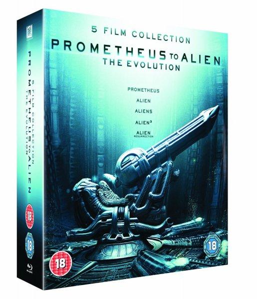 [Amazon.co.uk] Prometheus to Alien: The Evolution Box Set (8-Disc Blu-Ray Set)
