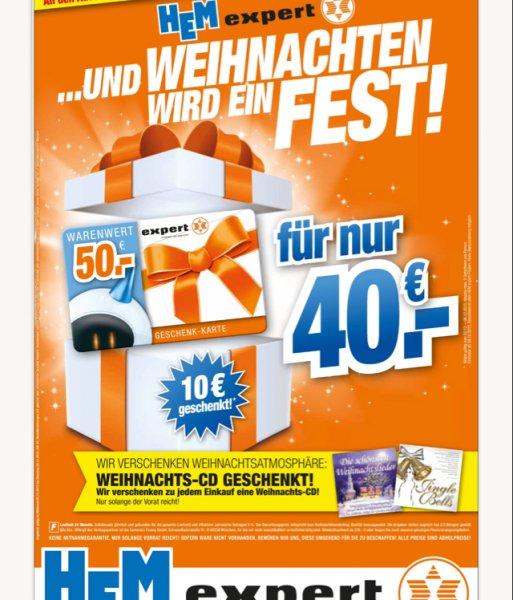 (DOPPELT) HEM Expert 50 Euro Geschenkkarten für 40 Euro