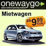 Mietwagen: Günstige Einwegmieten deutschlandweit bei Onewaygo für 9,99€ oder 19,99€