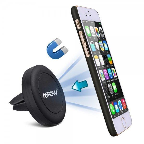[Amazon Prime] Mpow Grip Magie Auto-Halterung Handy Air Vent Magnetisch Universal KFZ Halterung für 5,99 Euro