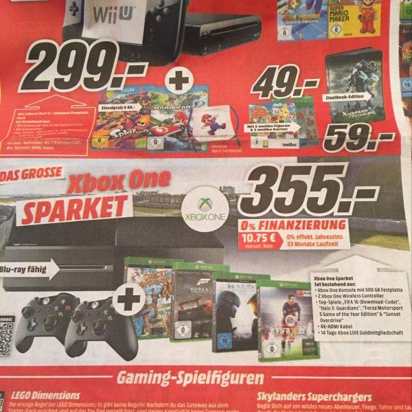 Lokal Plauen Xbox One 500 GB + 2 Controller + FIFA 16 + Halo 5 + Forza 5 + Sunset