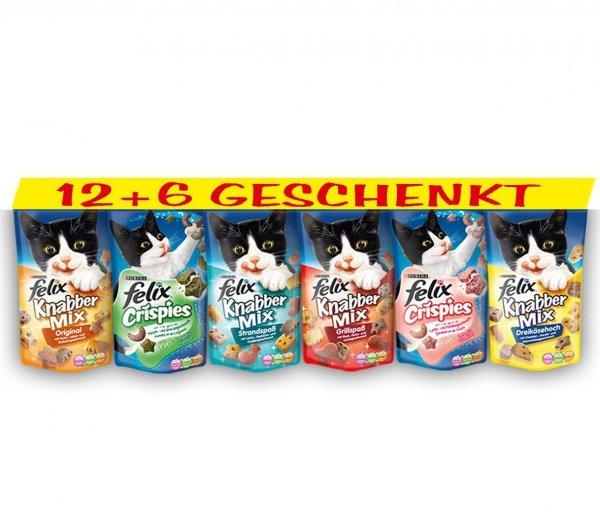 [BLITZANGEBOT - NUR FÜR AMAZON PRIME KUNDEN / sonst + VSK] Felix Katzensnack Snackbox 12 + 6 gratis