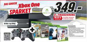 [Mediamarkt Sulzbach (MTZ)] Xbox One Sparpaket 500GB (Konsole, 2x Controller, Fifa 16 (Download), Halo 5: Guardians, Forza Motorsport , Sunset Overdrive) für 349€
