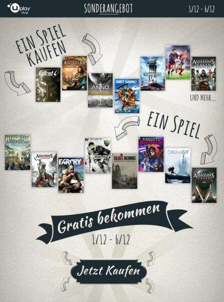 2 für 1 - Ubisoft Sonderangebot