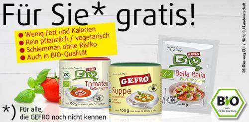 Testpaket von Gefro [2 Dosen Suppe, 1 pck. Würzmischung, Versandkostenfrei]