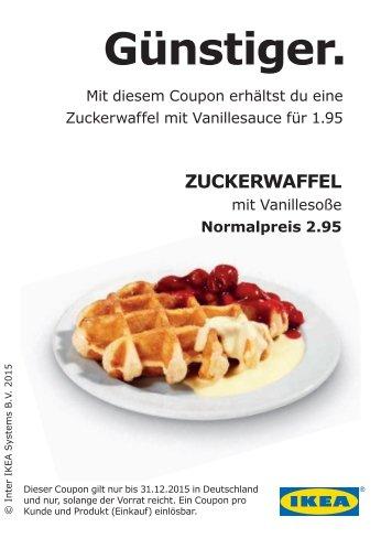 Ikea 1 Zuckerwaffel mit Vanillesauce für 1,95€ statt 2,95€
