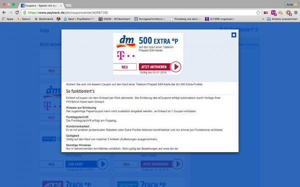 """DM Telekom 10€ Xtra Card """"Payback"""" ] wieder 3 Karten pro Account mit jeweils 500 Extrapunkte + Multiplikator möglich"""