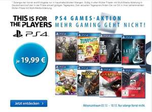 Müller Ps4 Playstation 4 Titel 19,99 The last of us, The Order, Driveclub uvm.