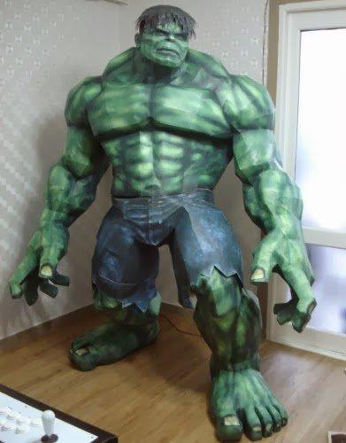 Ein 2 m großer Hulk zum ausdrucken und zusammenkleben