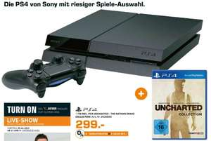[Lokal Köln Saturn] Sony Playstation 4 - 1TB [NEUE VERSION] + Nathan Drake Collection für 299,-