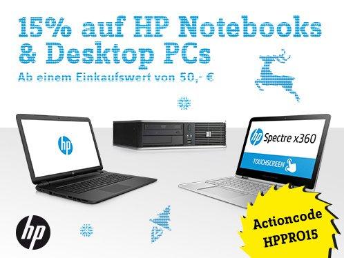 [Conrad] 15% auf HP Notebooks und Desktop PCs (nur am 4.12.)