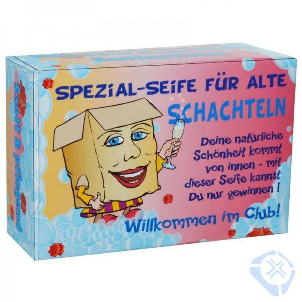 """Scherzartikel Pflegeseife """"Spezialseife für alte Schachteln"""""""