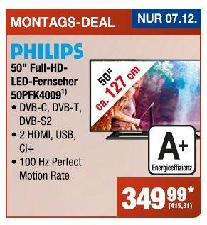 "Philips 50"" Full-HD-LED-Fernseher - 50PFK4009 @ Metro am 07.12.2015"