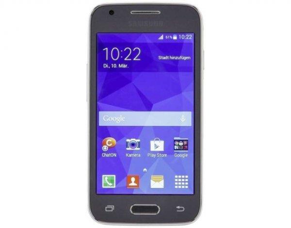 [Rappenspalter] Samsung Galaxy Trend 2 SM-G313HN, Smartphone, 4 Zoll Touchscreen, 4 GB, Dual-Core, 5 MP Kamera, Android 4.4.2, WLAN, Bluetooth 4.0, 3G, Charcoal Gray Einsteigerhandy