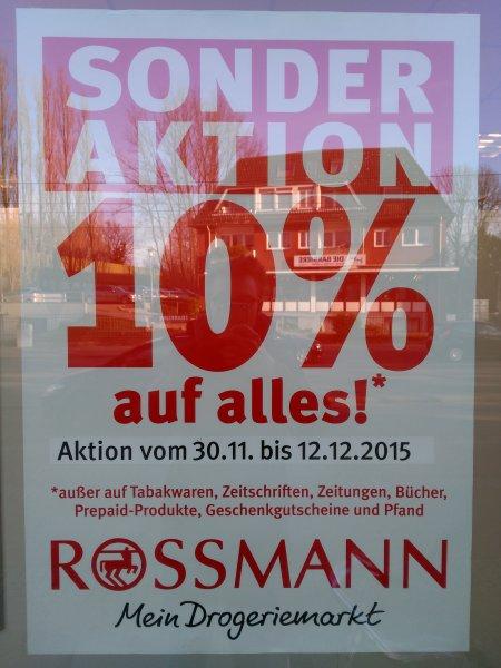 [Lokal Bremen-Horn] Rossmann 10% auf alles (bis 12.12) + Geschenktüten + Kaffee/Tee/Kekse