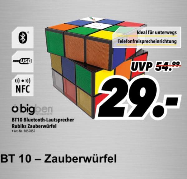 MediMax Süd/Ost - BigBen Zauberwürfel BT10 Bluetooth Lautsprecher Rubiks (nur am 04.12.15 - Lokal)