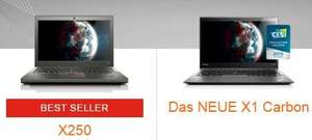 Lenovo Thinkpad X1 Carbon & X250  10% billiger - nur heute