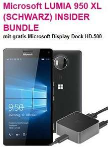 [T-Mobile] Microsoft Lumia 950 & 950XL je 549,95 & 649,95€ INSIDER BUNDLE incl Display Dock