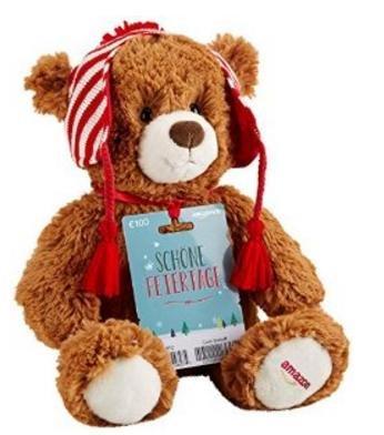 [Amazon] Gratis Teddybär bei Kauf eines Amazon-Gutscheins ab 100 Euro