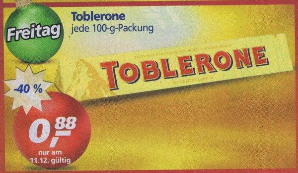 [Real] Toblerone Dreieckstafel 100g für 0,88€ nur am 11.12