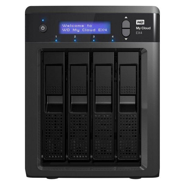 WD My Cloud EX4 Persönlicher Cloud-Speicher 12TB 4-bay NAS (WDBWWD0120KBK) mit integrierten Festplatten