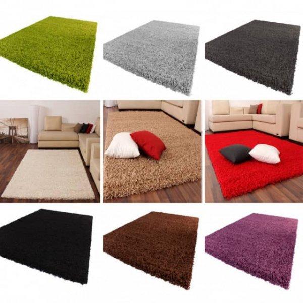[teppichcenter24.de] Hochflorteppich 60x100cm in verschiedenen Farben/ andere Größen gegen Aufpreis