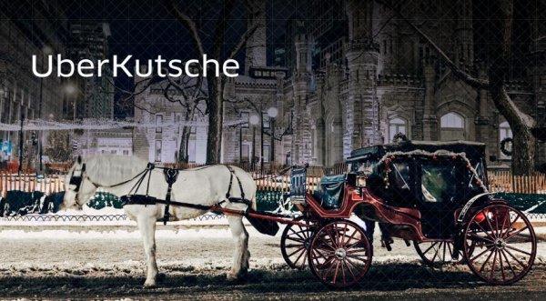 (Berlin & München) kostenlose Weihnachts-Kutschfahrt (20-30 min.) per UBER app