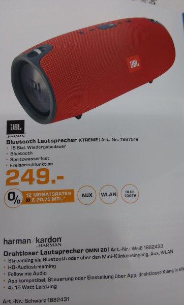 [lokal Saturn Hamm Westf.] JBL Xtreme Bluetooth Lautsprecher für 249€