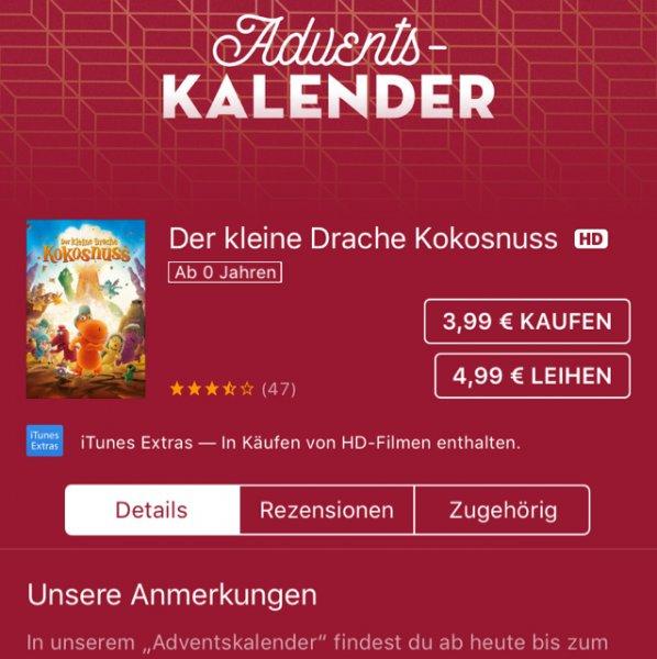 (iTunes) Der kleine Drache Kokosnuss - Download