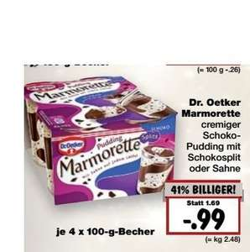 [Kaufland] Dr. Oetker Marmorett im Angebot für 0,99€ in Verbindung mit Scondoo für 0,69€