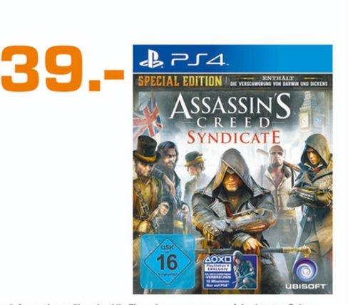 (Lokal)Assassin's Creed: Syndicate - Special Edition (PS4) für 39€ @ Saturn Köln