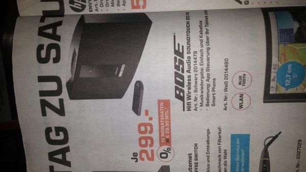 Bose Soundtouch 20 III 299€; Idealo 378€ [Lokal Siegburg]