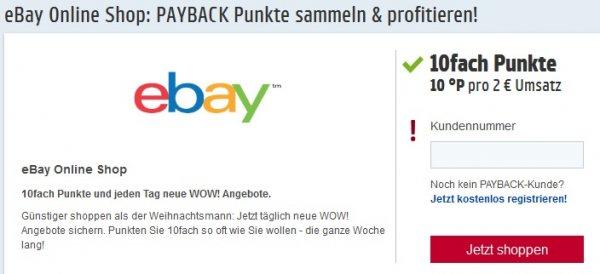 Payback Ebay 10-fach Punkte
