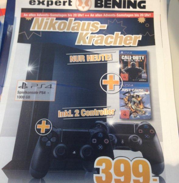 PlayStation 4 mit just Cause 3 BO3 und Zusatz Controller