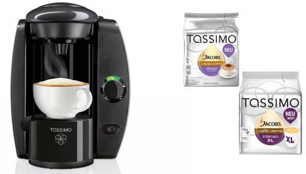 Tassimo T4 anthrazit + 20 EUR Gutschein* + 2x TDisc 1300W Heißgetränkemaschine