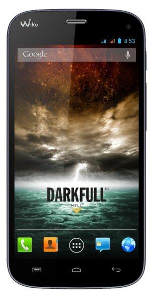 (Amazon WHD) Wiko DARKFULL Smartphone dunkelblau | 5 Zoll IPS Full HD Display | Quad-Core 1,5 GHz | 2 GB RAM | Dual-SIM | 13 & 5 Megapixel Kamera | 16 GB int. Speicher | OTG | Android 4.2)