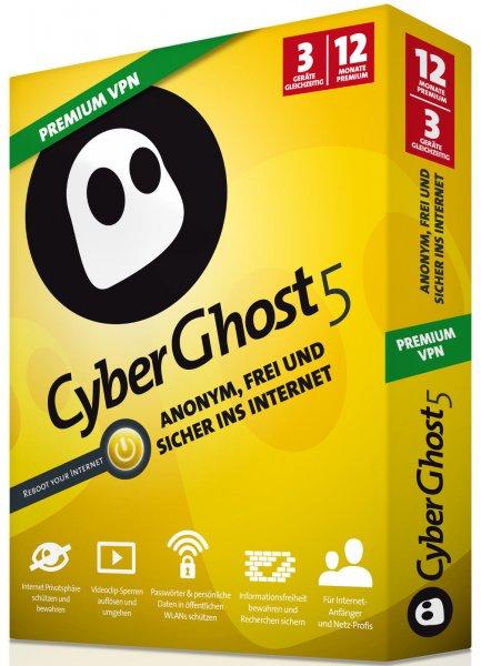 VPN CyberGhost in der Special Edition (1 Jahr) für 9,99€