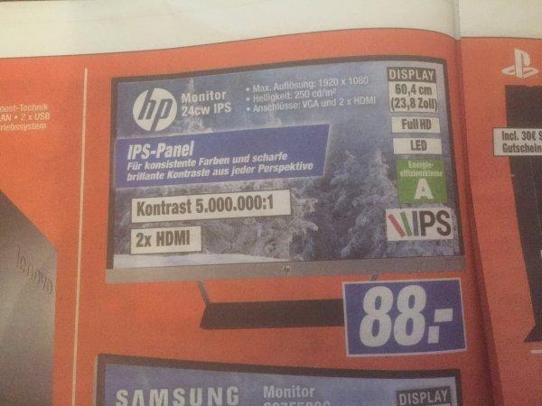 [expert Technikmarkt] HP 24CW IPS FHD Monitor für 88€ statt 139 € (MM)