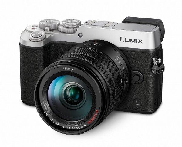 Panasonic Lumix DMC-GX8HEG-S Systemkamera Kit inkl. Lumix G Vario F3,5-5,6/14-140 Objektiv silber