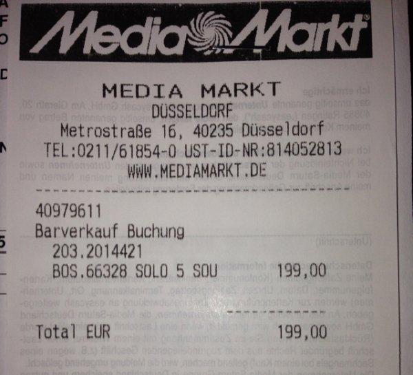 Bose Solo 5 Soundbar Mediamarkt Düsseldorf