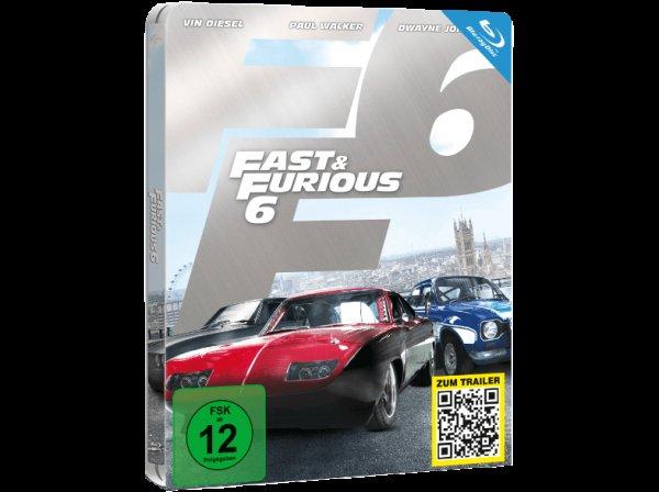 Fast & Furious 6 (Steelbook Edition) [Blu-ray] @ media markt VSK frei