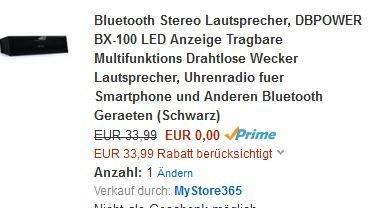 Bluetooth Speaker Free Amazon - AUSVERKAUFT