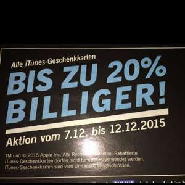 Apple iTunes bei Lidl 10% 15% 20%