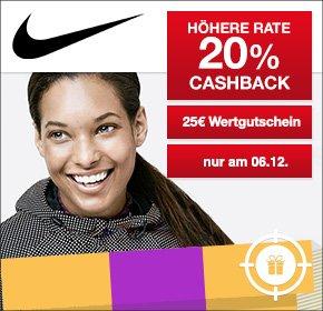 [QIPU] Nike mit 20% Cashback + 25€ Nike-Wertgutschein auf deine Bestellung ab 99 Euro
